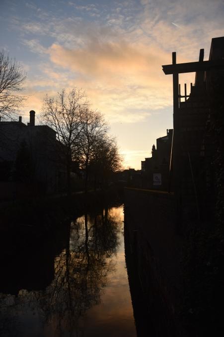Sunset over Leuven, Belgium