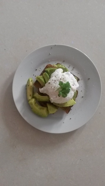 poached egg with yummy creamy goodness