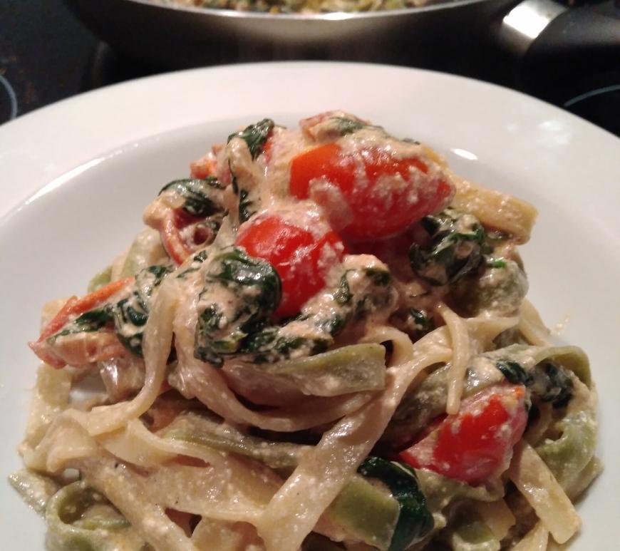easy quick healthy recipe, easy recipe, quick recipe, pasta recipe, spinach with ricotta, ricotta recipe