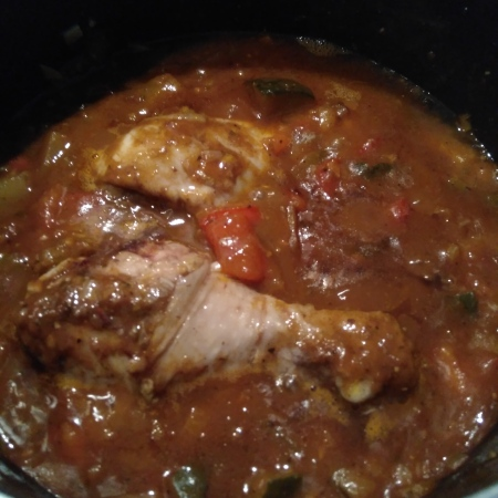 moroccan inspired chicken, chicken recipe, ratatouille, ratatouille chicken, tomato and garlic