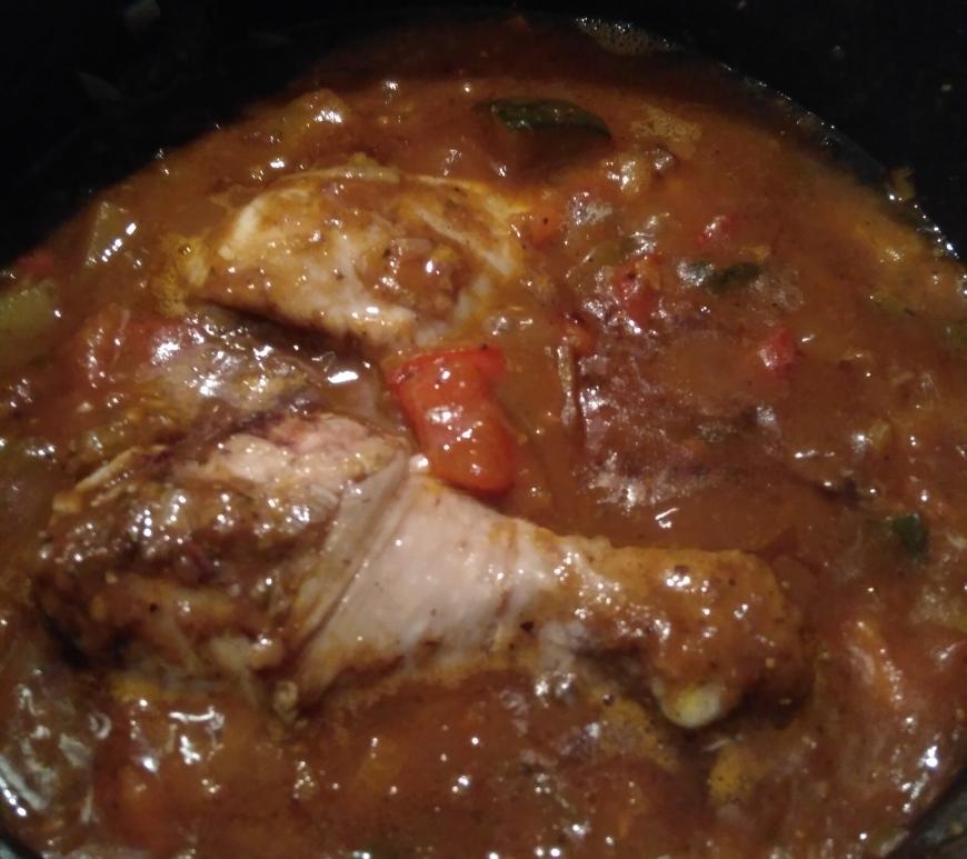 moroccan inspired chicken, chicken recipe, ratatouille, ratatouille chicken, tomato and garlic