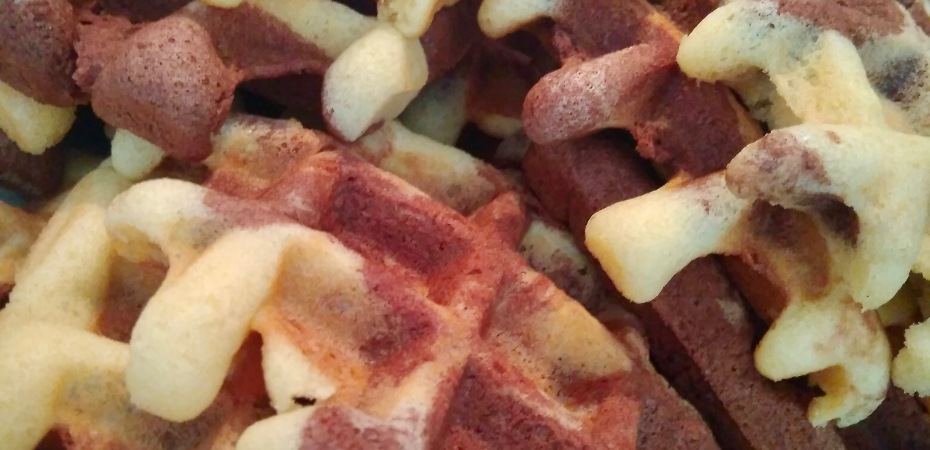 Vanilla & Chocolate Marble Waffles